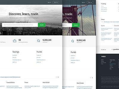 Invezz  invezz layout homepage search stocks trading wip marin sotirov