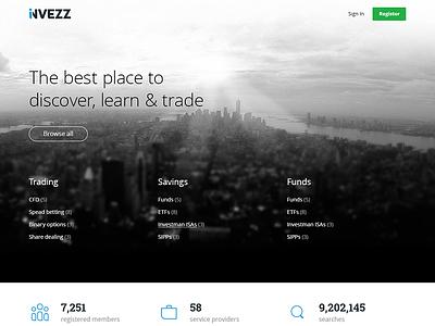 Invezz Home V2 website concept layout new york invezz design homepage marin sotirov