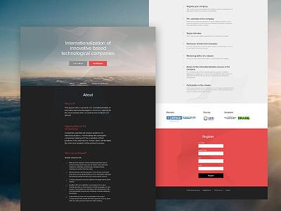 Project Landing Page landing page design ui web design layout marin sotirov