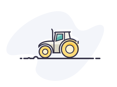 Tractor icon lines tractor