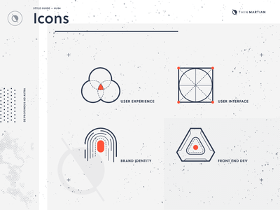 Thin Martian service icons user experience style guide interface martian thin mars space texture icons