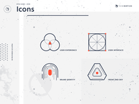 Thin Martian service icons