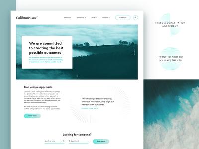 Calibrate Law New Website homepage blues design uiux ux ui website