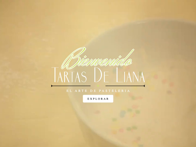 Tartas De Liana - Website html css photoshop illustrator single page parallax landing website bakery ux ui