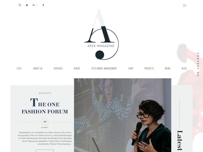 Atex Fashion - Website website aftereffects illustrator photoshop jquery scss html css ux ui javascript