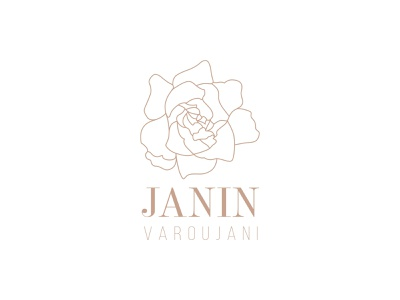 Janin Varoujani - Logo illustration vector design typography minimalistic fashion flower logo branding illustrator