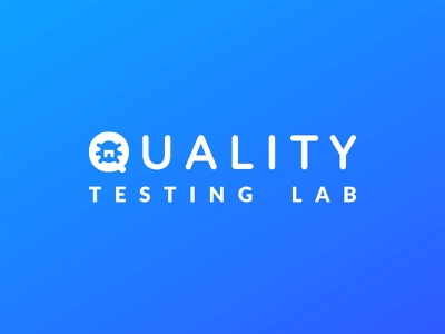 Quality Testing Lab - Logo bug logo bug blue logo quality control quality qa vector design illustration logo branding illustrator
