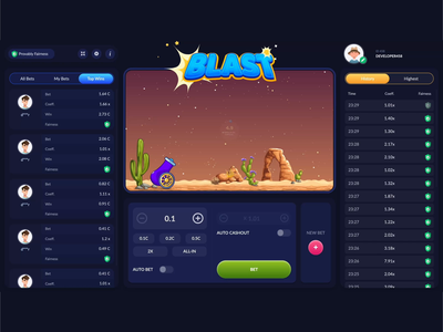 Blast - Game css 3 css grid skill game blaster responsive design css animation photoshop illustrator aftereffects canvas blast gambling game css3 animations css
