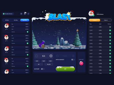 Blast at Winter - Game snow day snow globe winter game winter game gambling aftereffects animations css animation blaster blast skill game css grid css 3 css