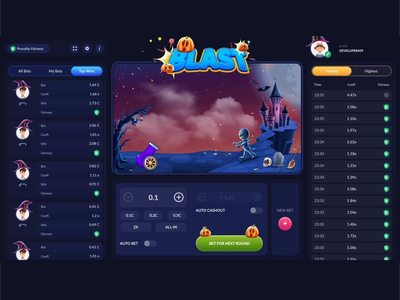 Blast at Halloween - Game css grid css3 theme blaster blast bets bet halloween gambling game aftereffects css animations css animation css