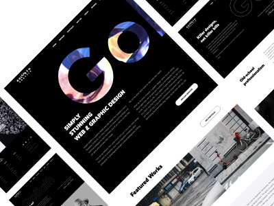 Goliath Graffix - Website designer agency typography bold design contrast black and white web design agency design react wordpress uiux ui