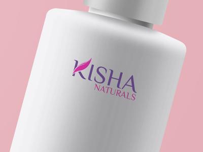 """""""Kisha Naturals"""" Logo Design"""