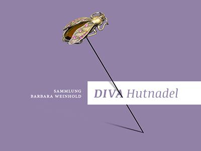 Diva Katalog exhibition hatpin print catalogue cover