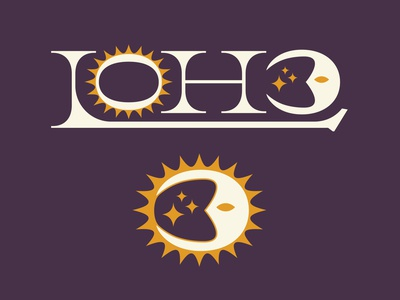 Loho Logo rock and roll rock poster musician badge vintage music north carolina design psychedelic trippy star sparkle moon sun logomark logotype illustration branding logo