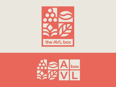 AVL Box Brand Identity delivery design brand design brand identity golden rectangle golden ratio geometry geometic illustration local csa farmers market leaf grain coffee grape asheville identity design branding logo