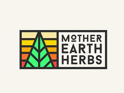 Mother Earth Herbs Identity 2 branding logo sun desert new mexico dispensary marijuana cannabis leaf weed