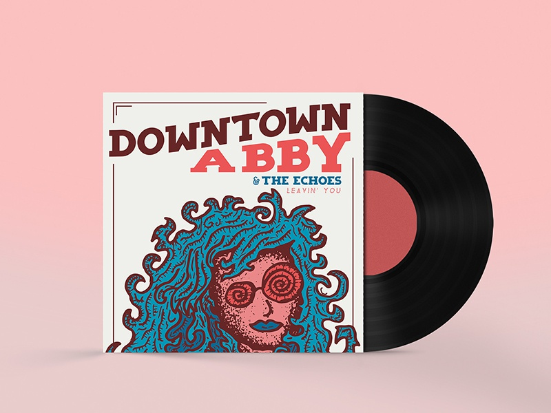 Leavin' You Album Cover Final ep trippy glasses downtown rock and roll vinyl illustration girl soul album music