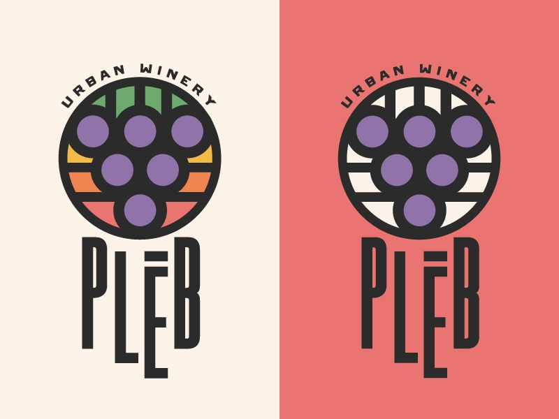 Winery Branding roman urban stained glass geometric illustration logo alcohol grapes wine
