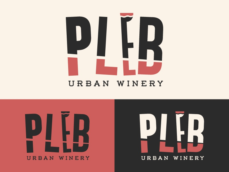 Winery Branding 2 roman red concrete urban illustration logo alcohol glass grapes wine