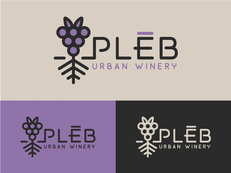 Winery Branding 3 north carolina asheville alcohol monoweight line grape roots wine urban modern