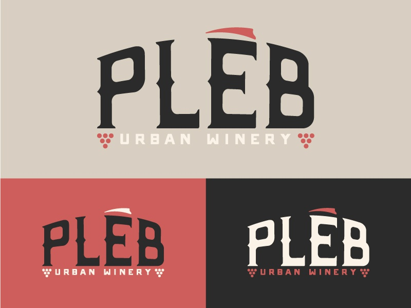 Winery Branding 4 triangle roman triad red concrete urban illustration logo alcohol glass grapes wine