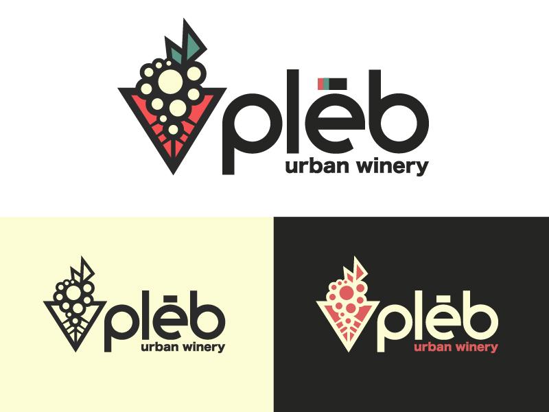 Winery Branding city urban roots grapes roman rome triangle illustration branding logo north carolina winery