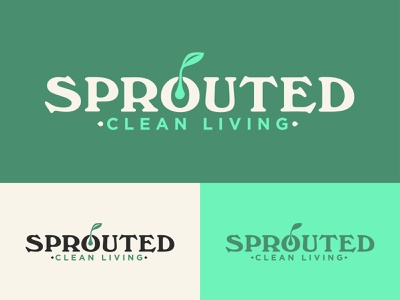 Sprouted Blog Logo food weed cannabis clean green green living design branding website blog wellness health leaf logo seed plant sprout