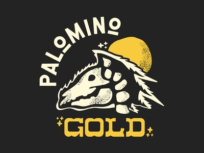 Palomino Gold Band Design branding band poster poster art curve palomino gold country cosmic western tee shirt texture sun horse dead grateful dead rock band band tee logo illustration