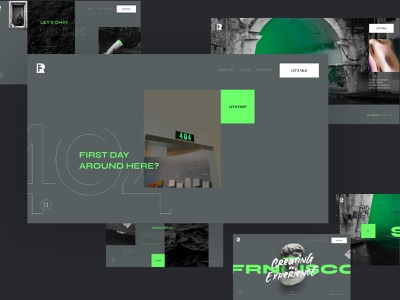 FREE UI Interactive Portfolio 404 Page photoshop web ux design ui interface user page design download] freebie page 404