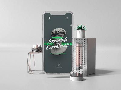 FREE UI Interactive Portfolio Mobile colors photoshop concept modern marketing landing web design ux ui