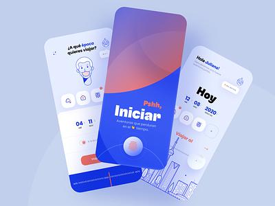App Concept Back to the future - Onboarding responsivedesign minimalism ux appdesign uidesign design graphicdesign graphicux uxdesignmastery uxui dribblers iosinspiration uidesigner userexperience userinterfacedesign userinterface uxigers interaction brandmark uitrends ui
