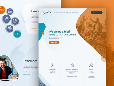 UI / UX - Web Solvo corporate shapes orange outsourcing marketing web ux ui