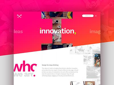 i  / Concept design marketing landing publicidad agency web ui design concept i