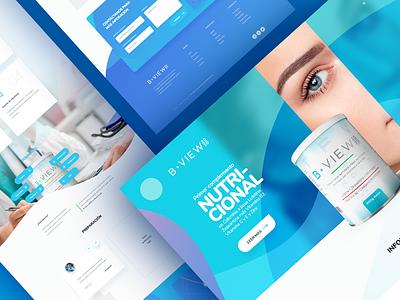 B-View / Landing product marketing web design modern ux ui landing