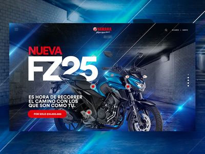 Concept UI - Yamaha motorbike colors light photoshop ux design ui motorbike