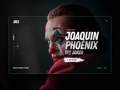 Joker - UI Design Concept concepts website interaction cx joker concept modern marketing web landing design ux ui