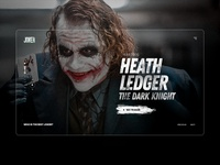 Joker - UI Design Concept colors photoshop concept modern marketing web landing design ux ui