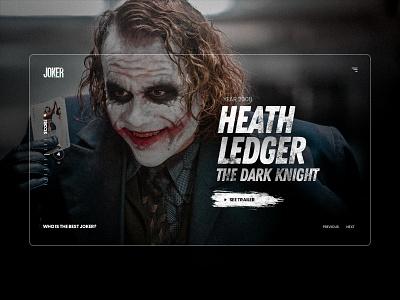 Joker - UI Design Concept colors photoshop concept modern marketing web landing design ux ui
