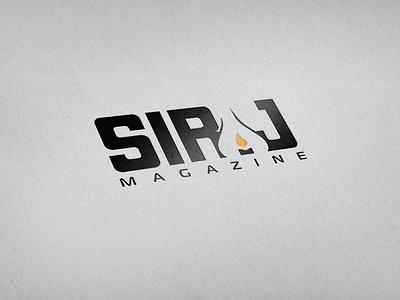 Siraj Magazine logo siraj negative space magazine arabic web branding lamp candle