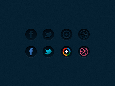 Social Icons icons social facebook twitter google plus dribbble