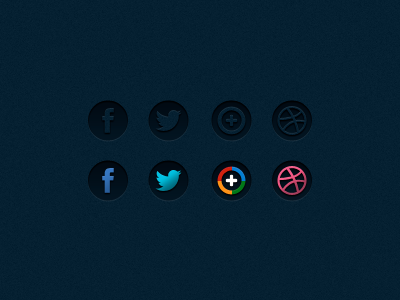 Social icons with the new Twitter logo dribbble plus google twitter facebook social icons