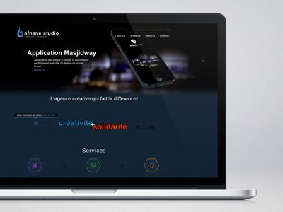 Afnane studio - homepage afnane studio agency creative homepage slider tooltip