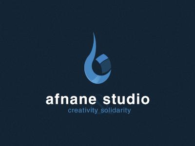 Afnane studio logo afnane studio agency creativity solidarity logo
