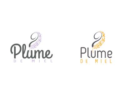 Logo : Plume de miel plume miel logo feather honey oriental