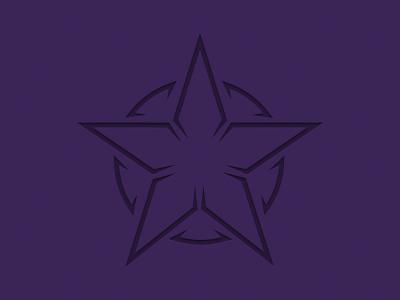 Star star logo circle