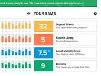 Flat UI Stats