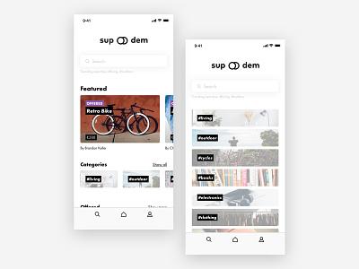 Hello Dribbble! flat branding logo mobile app web shop typogaphy ux ui futura mobile minimal concept app