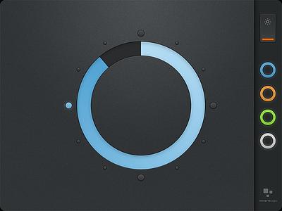 Minimalist iPad clock ux ui dark minimal minimalist clock ipad ios interface design time interface blue