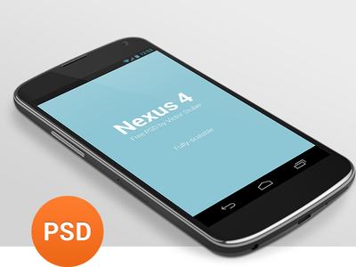 Free Nexus 4 PSD free nexus 4 nexus google android psd holo template freebie download 3d phone