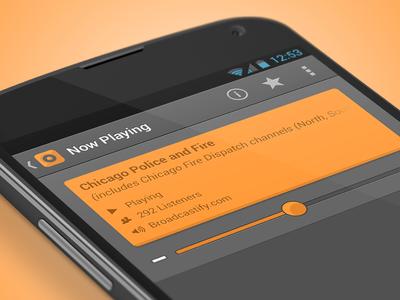 Scanner Radio 4.0 android ui interface design interface design orange nexus ux app google police scanner